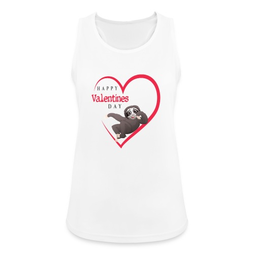 Sloth Valentines Day - Frauen Tank Top atmungsaktiv