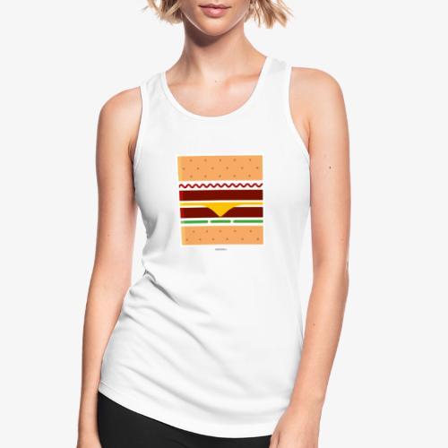 Square Burger - Top da donna traspirante