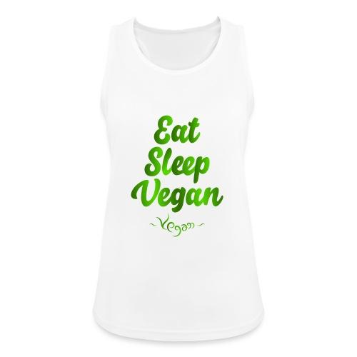 Eat Sleep Vegan - Naisten tekninen tankkitoppi