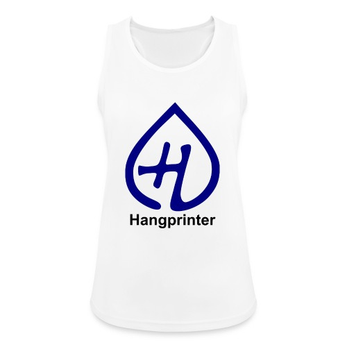 Hangprinter logo and text - Andningsaktiv tanktopp dam