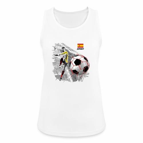 FP22F 02 SPAIN FOOTBALL - Naisten tekninen tankkitoppi