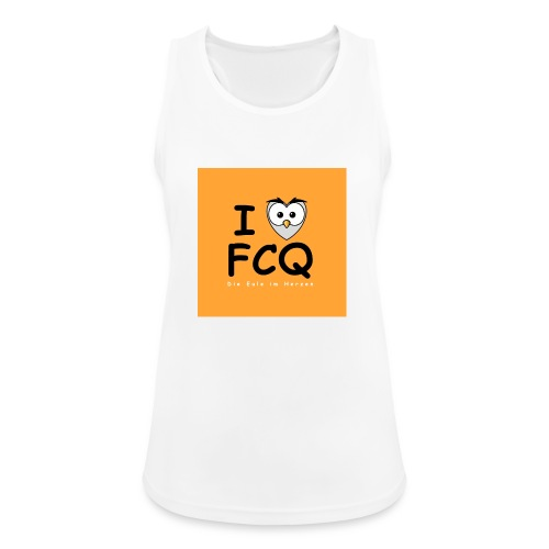 I Love FCQ button orange - Frauen Tank Top atmungsaktiv