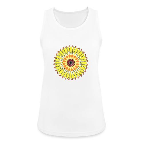 Yellow Sunflower Mandala - Women's Breathable Tank Top