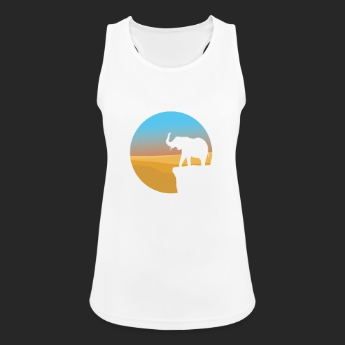 Sunset Elephant - Women's Breathable Tank Top