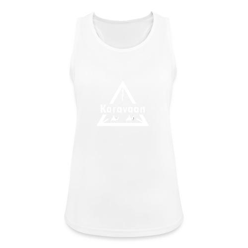 Karavaan White (High Res) - Vrouwen tanktop ademend actief