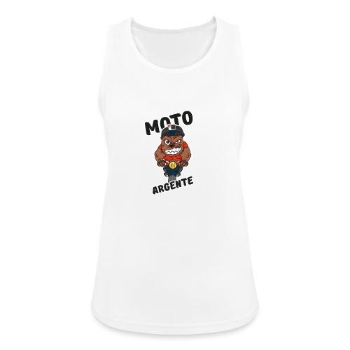 moto argente - Débardeur respirant Femme
