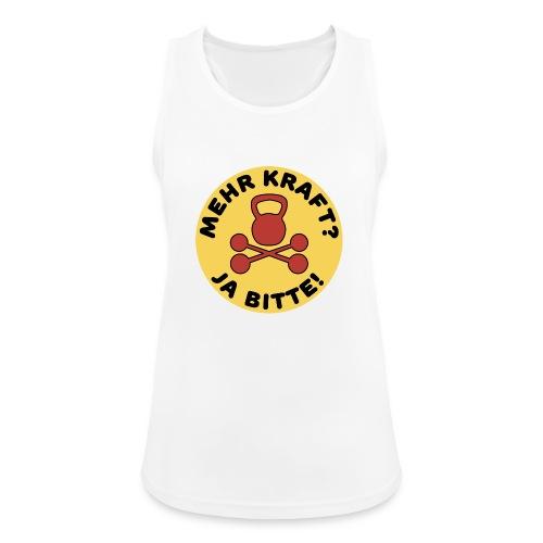 Mehr Kraft? Ja Bitte! Gewichtheber/Fitness Design - Frauen Tank Top atmungsaktiv