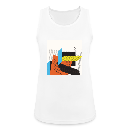 Vintage shapes abstract - Women's Breathable Tank Top
