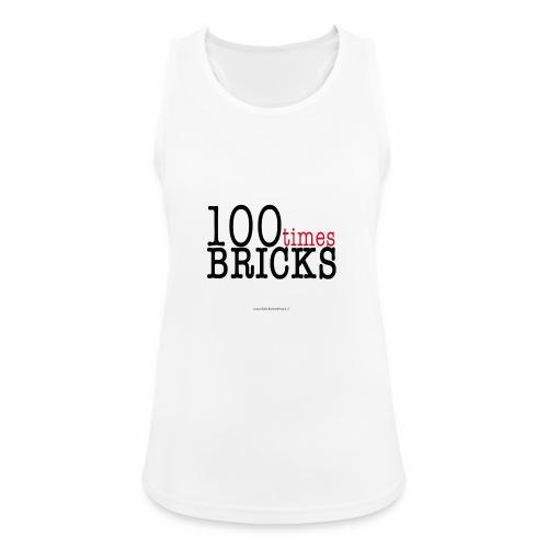 100times BRICKS - Top da donna traspirante