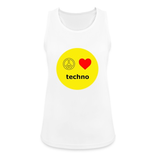 paz amor techno - Camiseta de tirantes transpirable mujer
