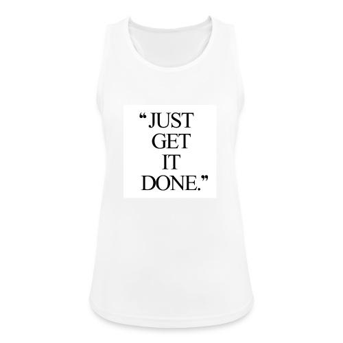 just get it done workout motivation - Dame tanktop åndbar