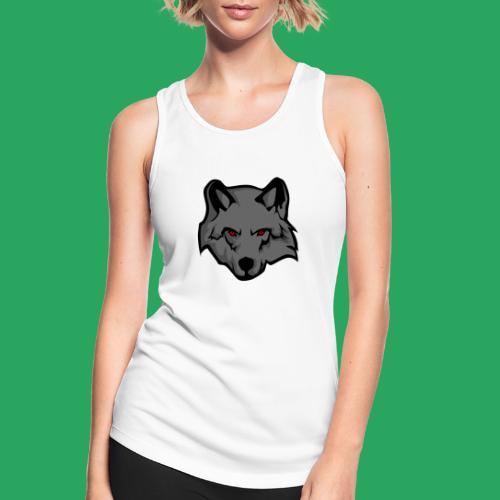 wolf logo - Top da donna traspirante