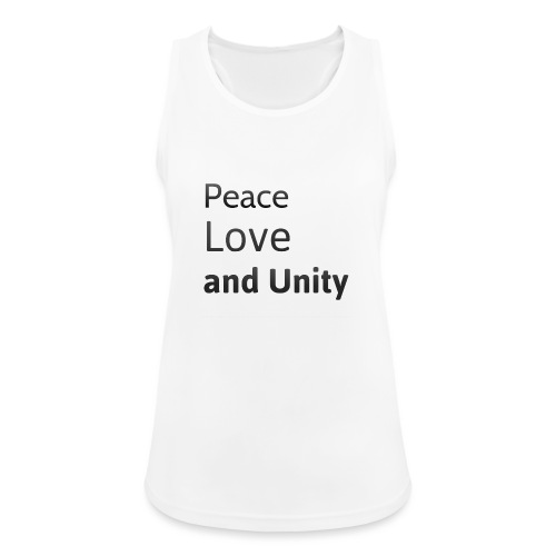 peace love and unity - Women's Breathable Tank Top