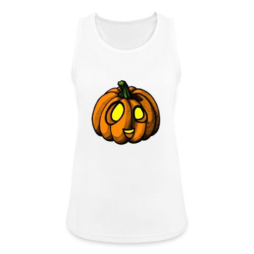 Pumpkin Halloween scribblesirii - Naisten tekninen tankkitoppi