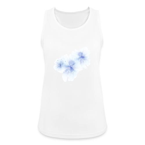 blue flowers - Tank top damski oddychający