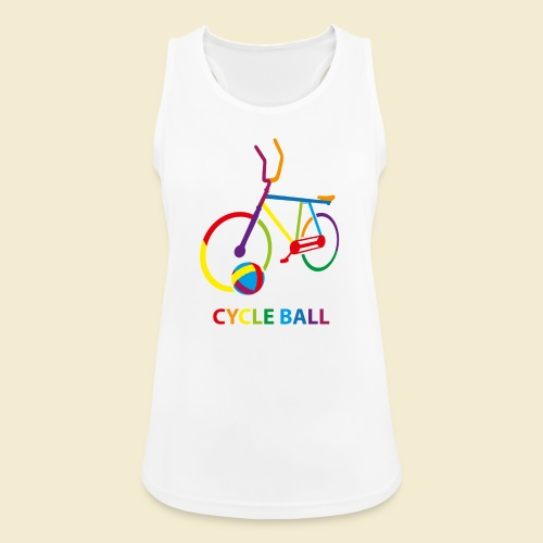 Radball | Cycle Ball Rainbow - Frauen Tank Top atmungsaktiv