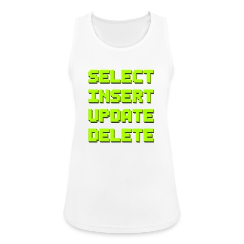 SQL pixelart black - Frauen Tank Top atmungsaktiv