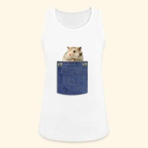 hamster in the poket - Top da donna traspirante