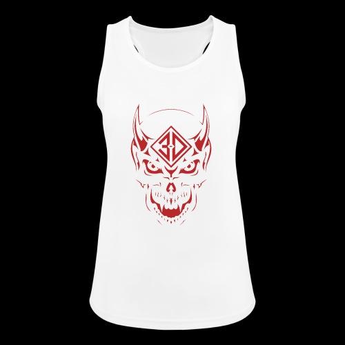 devil skull red - Débardeur respirant Femme