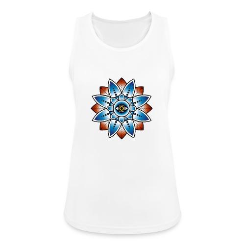Psychedelisches Mandala mit Auge - Frauen Tank Top atmungsaktiv
