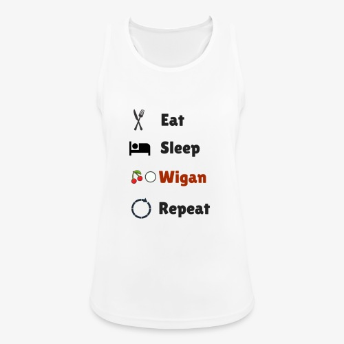 Eat Sleep Wigan Repeat - Women's Breathable Tank Top
