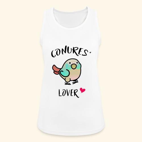 Conures' Lover: blue cinamon - Débardeur respirant Femme