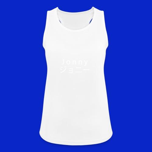 J o n n y (white on black) - Women's Breathable Tank Top