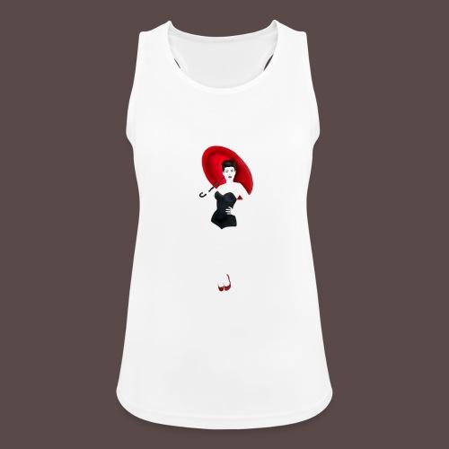 Pin up - Red Umbrella - Top da donna traspirante