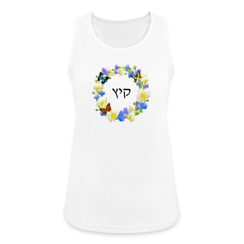 Corona floral verano, hebreo - Camiseta de tirantes transpirable mujer