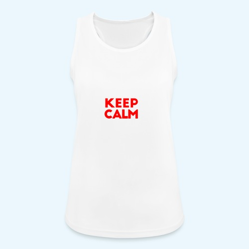 I Can't Keep Calm (voor donkere stof) - Vrouwen tanktop ademend