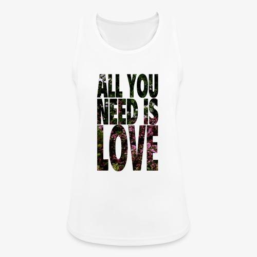 All You need is love - Tank top damski oddychający