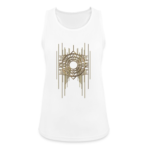Abstract Geometry Gold Metal Art Deco Vintage - Women's Breathable Tank Top