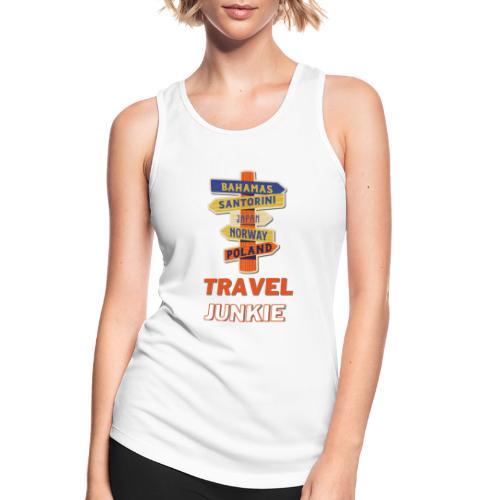 traveljunkie - i like to travel - Frauen Tank Top atmungsaktiv