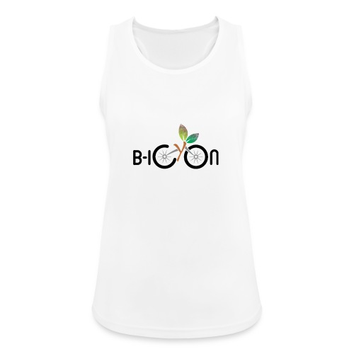 B-Icon Logo (Light Colored Items) - Vrouwen tanktop ademend actief