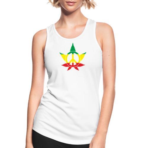 Peace färbig - Frauen Tank Top atmungsaktiv