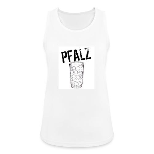 Pfalzshirt mit Dubbeglas, weiß - Frauen Tank Top atmungsaktiv