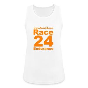 Race24 Logo in Orange - Women's Breathable Tank Top