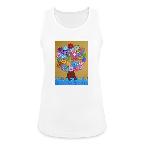 arbol de la vida - Camiseta de tirantes transpirable mujer