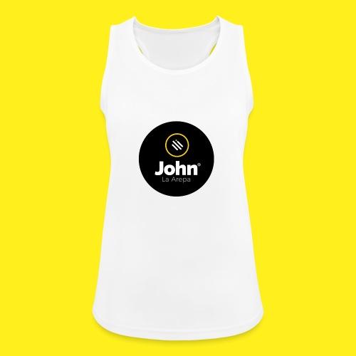 logo john - Camiseta de tirantes transpirable mujer