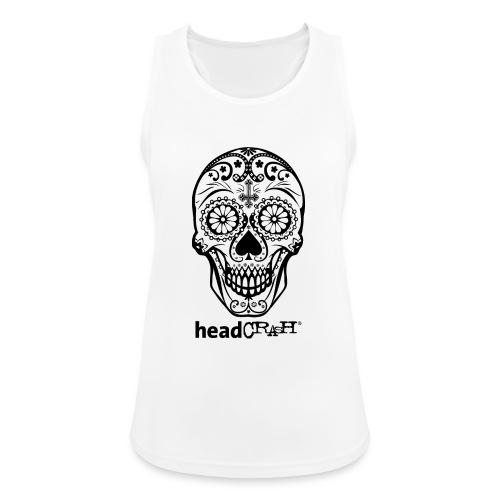 Skull & Logo black - Frauen Tank Top atmungsaktiv