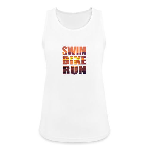 swim bike run @RUNNINGFORCE - Frauen Tank Top atmungsaktiv