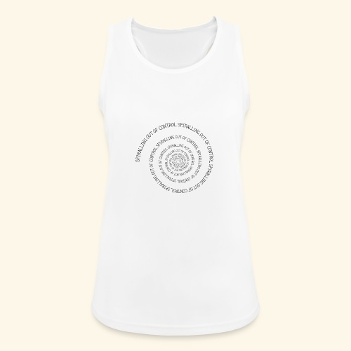 SPIRAL TEXT LOGO BLACK IMPRINT - Women's Breathable Tank Top