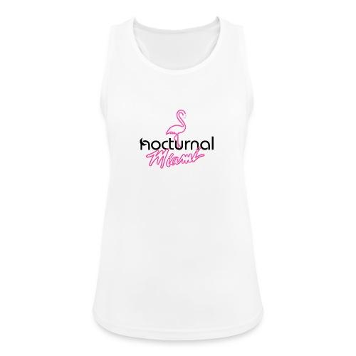 Nocturnal Miami Flamingo black - Women's Breathable Tank Top
