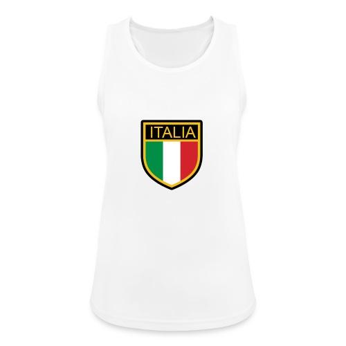 SCUDETTO ITALIA CALCIO - Top da donna traspirante