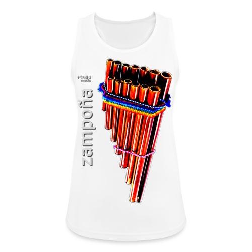 Zampoña - Camiseta de tirantes transpirable mujer