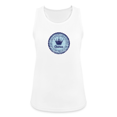 Apresski Queen Grunged Badge Shirt - Frauen Tank Top atmungsaktiv