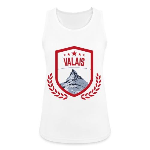 Walliser Logo mit dem Matterhorn - Frauen Tank Top atmungsaktiv