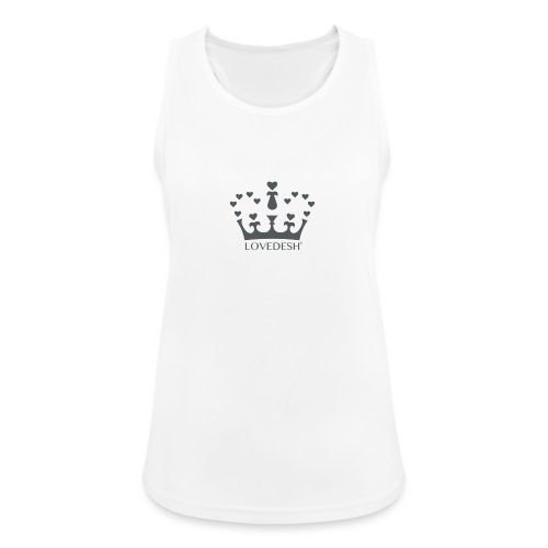 LD crown logo hearts png - Women's Breathable Tank Top