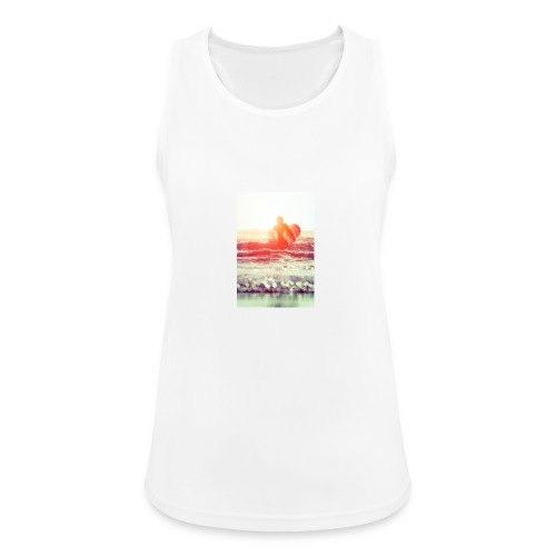 sunset surf jpg - Women's Breathable Tank Top
