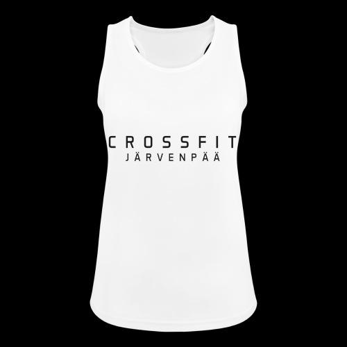 CrossFit Järvenpää mustateksti - Naisten tekninen tankkitoppi